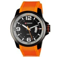 Cuarzo Casual relojes hombres hombre estilo moda reloj de goma reloj hombre negro reloj relogio CURREN marca relojes hombres relojes de pulsera