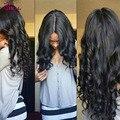 7А Перуанский Освобождает Волну С Закрытием 3 Связки Лот Человека волосы Переплетения С Закрытием Дешевые Перуанские Девственные Пучки Волосков С закрытие