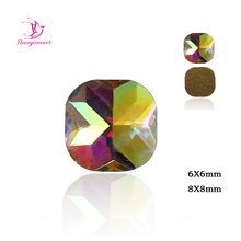 288pcs A2533 6x6mm 8x8mm Non HotFix FlatBack Crystal AB Strass Cabochon  Fancy Crystals and Stones For 73e321641c7d