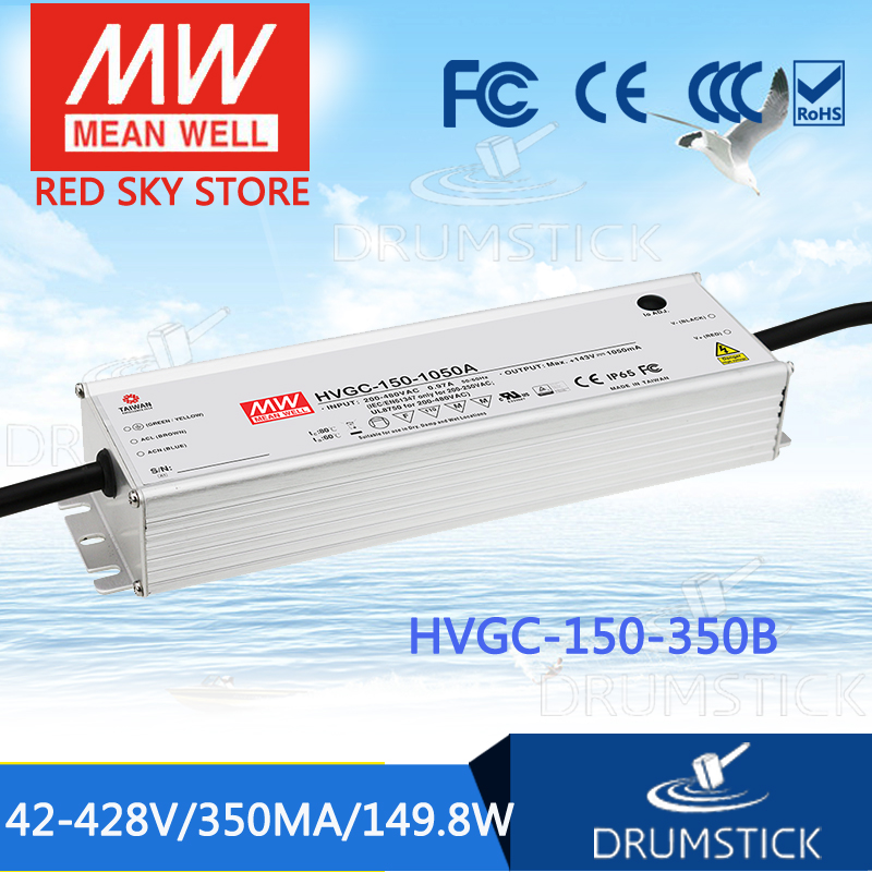 MEAN WELL HVGC-150-350B 42 ~ 428V 350mA meanwell HVGC-150 149.8W SingleOutput LED Driver Power Supply B Type mean well hvgc 150 350a 42 428v 350ma meanwell hvgc 150 149 8w singleoutput led driver power supply a type