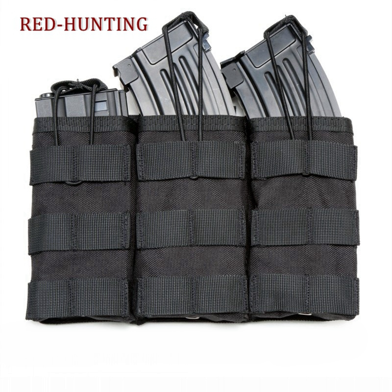 Tactical Nylon Cartridge Holder M4 Single/Double/Triple Magazine Pouch For Airsoft Paintball Vest Accessories Bag Molle Pouch