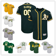 2dd6b8ceb39 Custom Men s Oakland Athletics 50th Anniversary Patch Players Weekend  Father s Day Mother s Day Any Name Number Baseball Jersey