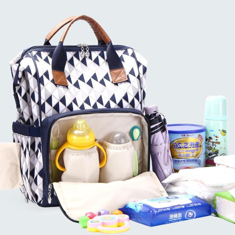 Mummy Nappy Bags Large Capacity Baby Bag Travel Backpack Multifunctional Mummy Backpack Diaper Bag For Baby Stroller XV3 nappy large capacity mummy bag 5pcs set multifunctional fashion ducks prints baby travel shoulder bag handbag for pregnant women