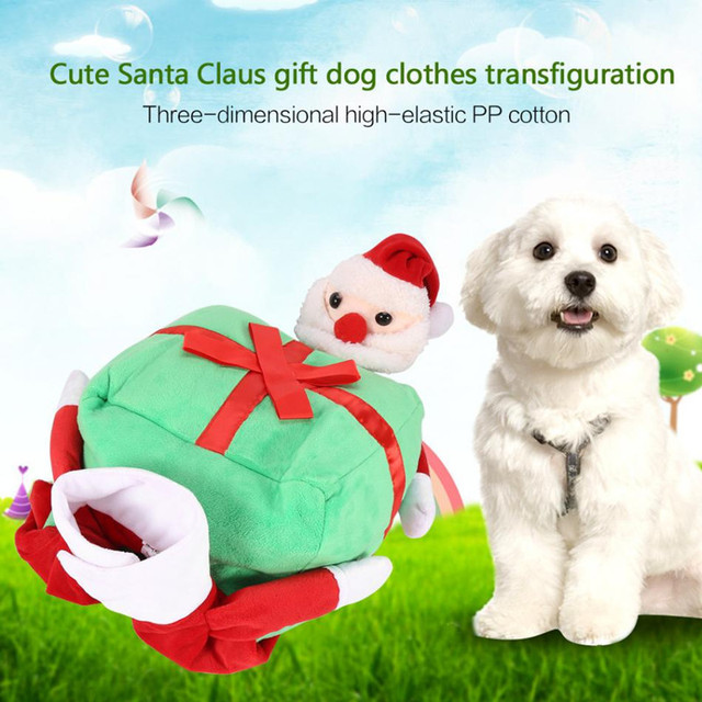 dogbaby pet dog clothes funny santa claus christmas dog costumes cute cat warm winter pet coat
