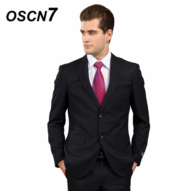 f46db5f4cea OSCN7 Striped Woolen Suit Men Business Formal Tailor Made Suits Plus Size  Casual Event Custom Made Suit 244-39