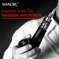 Caixa mod smok guardião 3 kit cigarro eletrônico hookah tabaco para cachimbo e cigarro vaporizador vape 75 w eletrônico micro tfv4 x9032