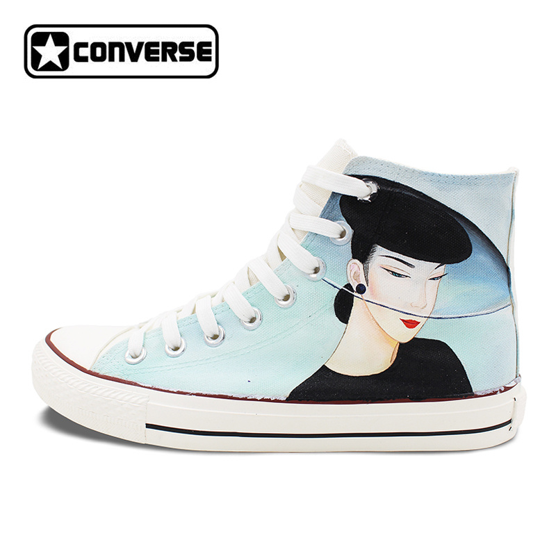 Original Design Hand Painted Shoes Converse Classic Beautiful Lady High Top Canvas Sneakers Unique Christmas Gifts for Men Women converse all star high top shoes for men women dreamcatcher design flats lace up canvas sneakers for gifts