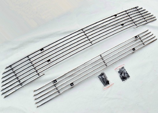 цена на High quality stainless steel Front Grille Around Trim Racing Grills Trim For 2013 Mitsubishi Outlander Samurai