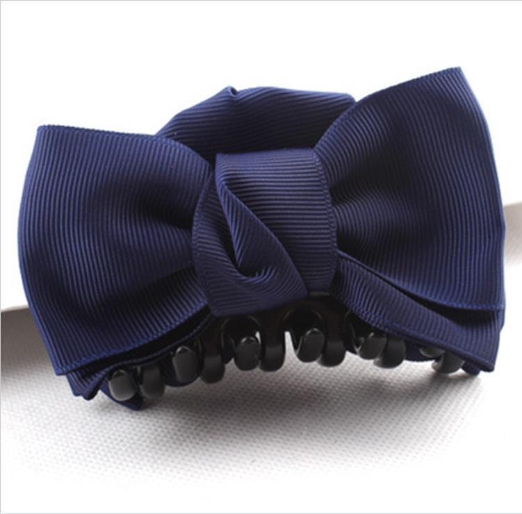 5pcs New Fashion Big Cloth Bows Hair Clips Crab clip Hairpins for Women Hair Accessories For Women Headwear Hair claw clip