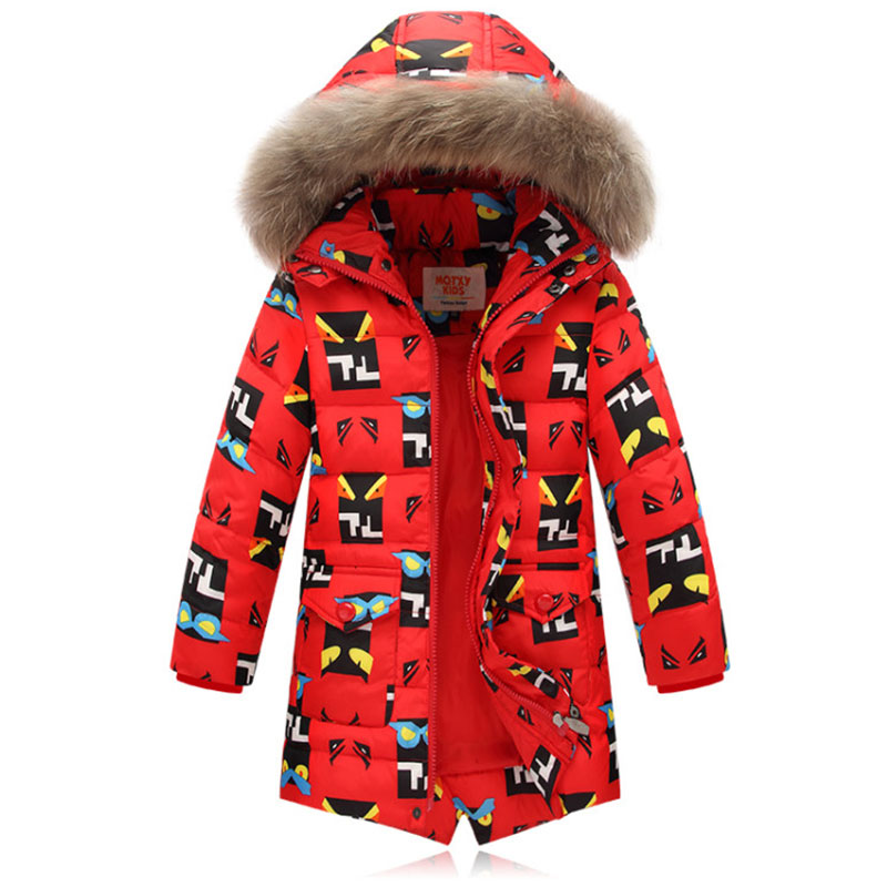 2017 Winter jacket for Boys down parka Warm Children jacket Outwear boy Coats Long Sleeve Hooded Cotton Baby Kid Coat snowsuit saf thicken warm winter coat hood parka overcoat long jacket outwear