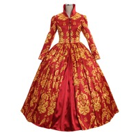 Cosplaydiy Vintage Southern Gown Civil War Ball Gown Luxurious Dress Medieval Victorian Ball Dress L320
