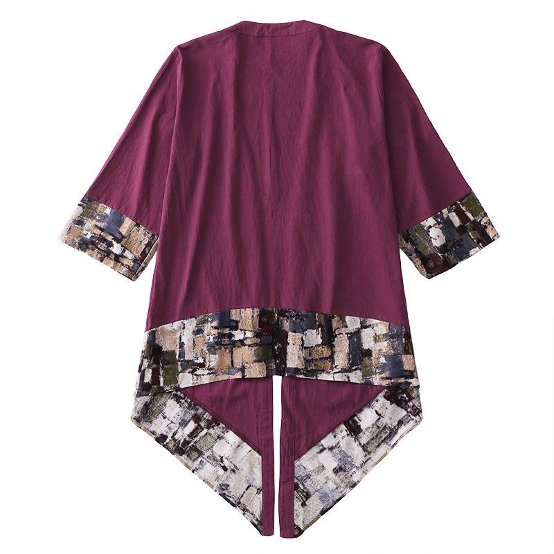 2019 Plus Size Fashion Men Long Outwear Shirts Half Sleeve Irregular Chinese Style Retro Male Cloak Coats Stylish Casual Trench