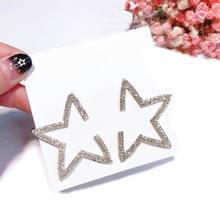 5cm Star Big Earrings For Women Personality Rhinestone Statement Earings Hanging New Fashion Jewelry Bijoux