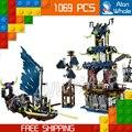 1069 шт. 2016 Новый Bela 10401 Ниндзя Город Stiix Строительные Блоки Игрушки Набор Рождественский Подарок Совместимость с Lego