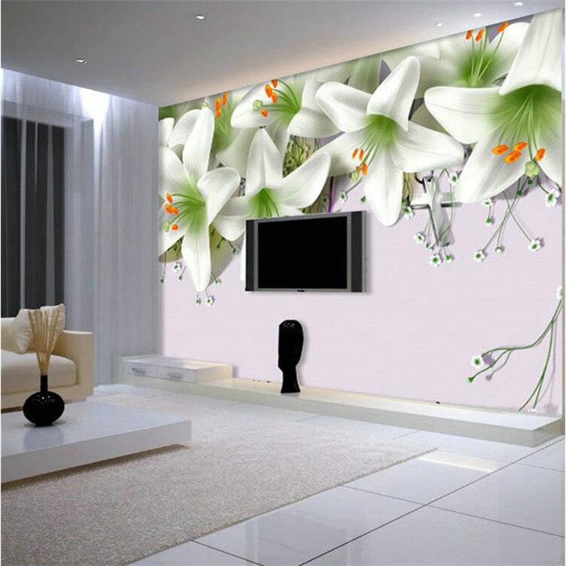 living tv backdrop bedroom wall painting mural hotel