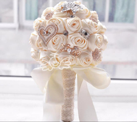 9 Colors Gorgeous Wedding Flowers Bridal Bouquets Artificial Wedding Bouquet Crystal Sparkle With Pearls 2018 buque de noiva