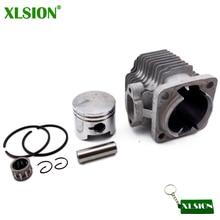Xlsion 44 ملليمتر اسطوانة + 44 ملليمتر مكبس 12 ملليمتر دبوس حلقة الإبرة مجموعة ل 49cc 2 السكتة الدماغية من البسيطة رباعية atv جيب الترابية دراجة