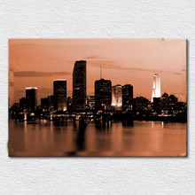 Beautiful craft product as Canvas print painting from picture miami heat miami dolphins for sofa wall free shipping