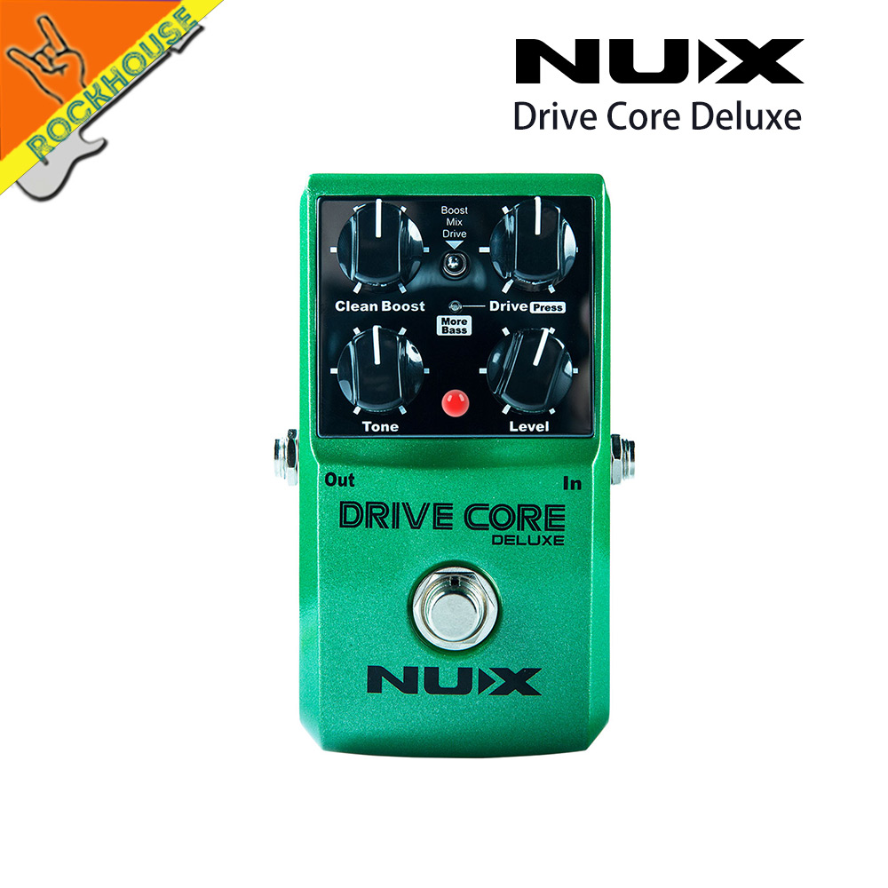 NUX Drive Core Deluxe Upgrade overdrive guitar effect pedal high gain with clean&drive booster Stable performance free shipping шорты для плавания bagutta bagutta ba071emtad48