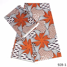 silk chiffon fabric modal african prints head tie 2yards+4yards hot sales 928