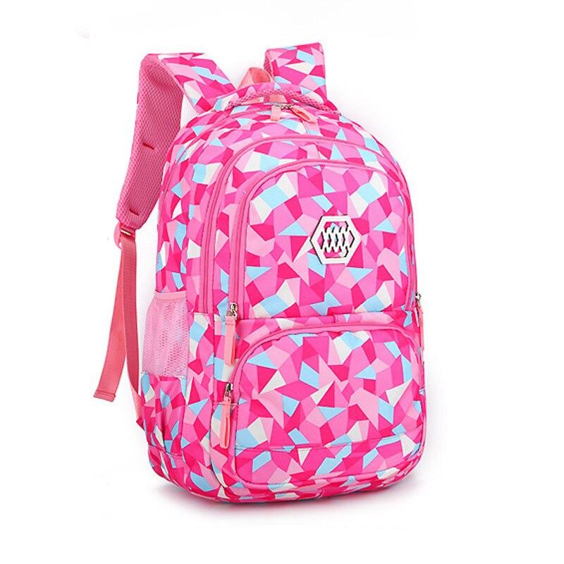 Детские школьные рюкзак для девочек школьная сумка дети Водонепроницаемый свет Вес рюкзак дети ранец школьный печати рюкзак Mochila