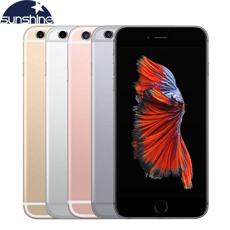 Original desbloqueado apple iphone 6 s 4g lte telefone móvel 2 gb ram 16/64 gb rom 4.7 12.12.0mp duplo núcleo ios 9 celular