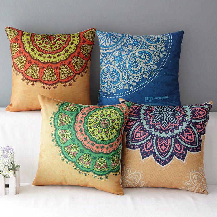 mediterranean cushion colorful decorative pillows Housse De Coussin striped ethnic almofadas ...
