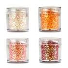 4 Boxes 4x Daisy Iridescent Glitter Mix Set / Fine 10ML Nail Glitter Dust Fine Mix 3D Nail Sequins Glitter Powder MA003-33-36,MC
