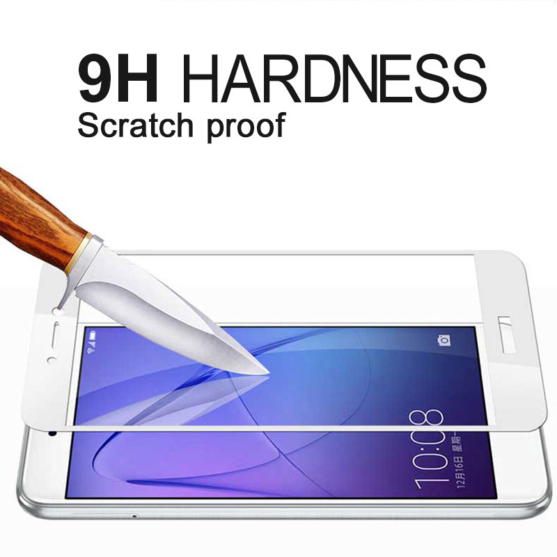 Image 4 - Honor 8 Lite Glass for Huawei P8 lite 2017 Tempered Glass Honor 8 lite Screen Protector Full Cover Film for Huawei P9 lite 2017-in Phone Screen Protectors from Cellphones & Telecommunications