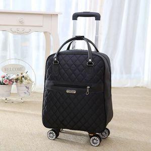 Image 5 - 新しい女性旅行荷物スーツケースハンドバッグ、女の子キャビン防水オックスフォードローリングトロリースーツケース、女性キャリーアドオンホイールドラッグバッグ