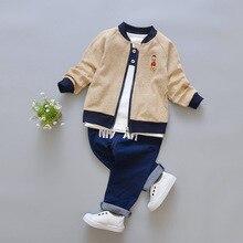 Комплекты одежды для детей осенние комплекты одежды из 3 предметов для мальчиков и девочек спортивный костюм комплекты одежды для мальчиков хлопковая одежда для девочек с героями мультфильмов