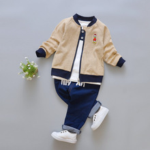 Children Clothing Sets Boy Autumn 3 Piece Girls Clothes Coat Sport Suit Boys Cartoon Cotton for