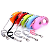 3M 5M Nylon ABS Walking Running Automatic Retractable Dog Leash For Puppy Pulling Dog Lead Leash