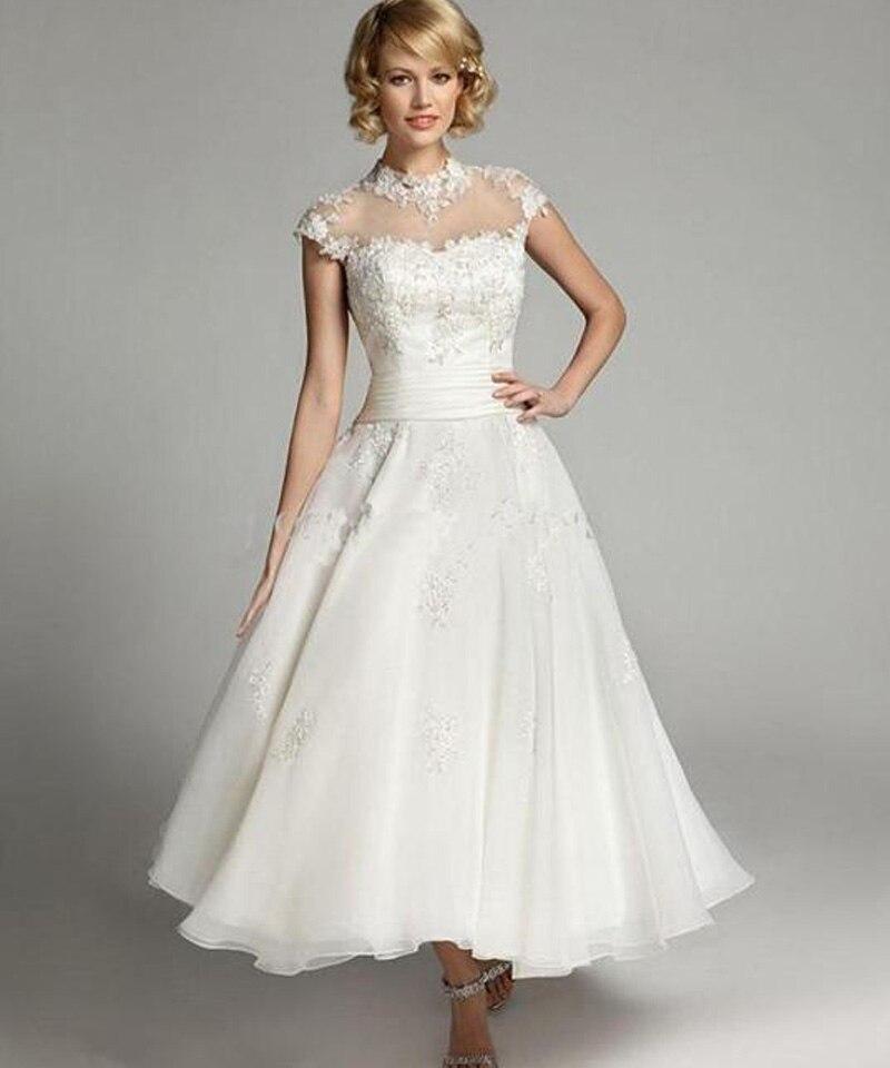 Neck Plus Size Wedding Dress