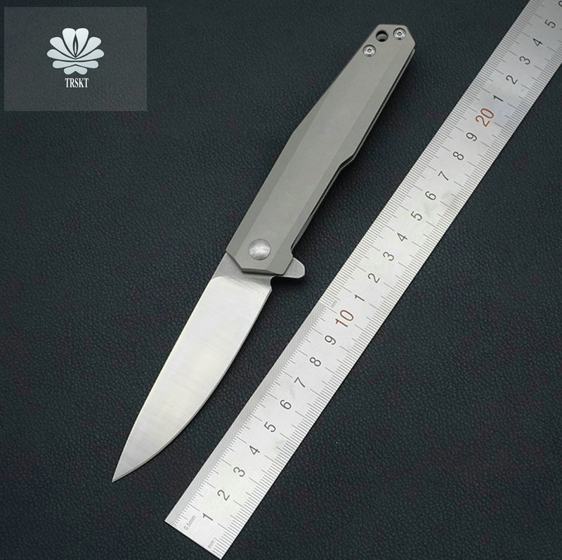 Trskt Flipper Folding Knife Hunting knives D2 Steel Blade ,Survival Rescue Knife Outdoor With TC4 Handle Edc Camping Tool Trskt Flipper Folding Knife Hunting knives D2 Steel Blade ,Survival Rescue Knife Outdoor With TC4 Handle Edc Camping Tool