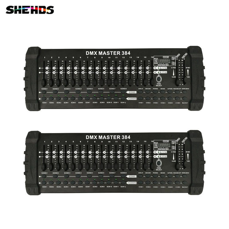 2pcs/lot Stage Light Equipment DMX Conlose 384A Lighting Controller Stage Light Consol for Moving Head fast shipping,SHEHDS