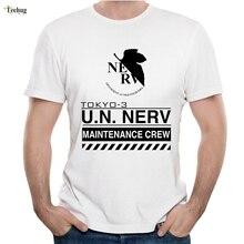 Anime EVA Neon Genesis EVANGELION NERV T Shirt Novelty Cartoon IKARI SHINJI Homme Tee Plus Size Camiseta