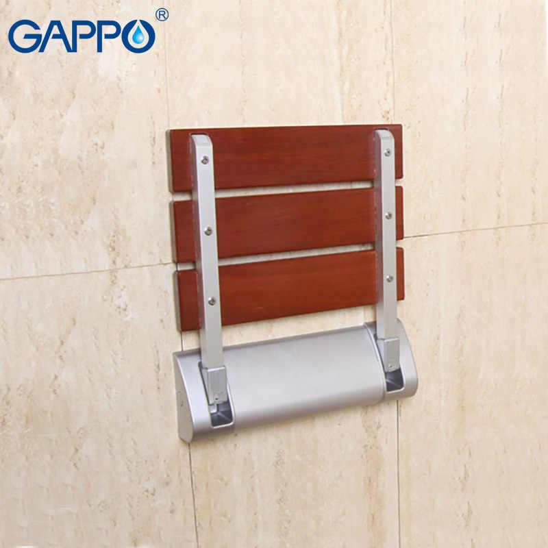 GAPPO الحائط دش مقاعد خشب متين كرسي قابل للطي دش مقعد قابل للطي دش البراز حمام المرحاض مقعد