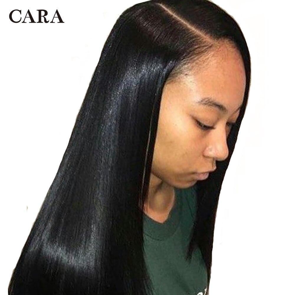 250 Densité Avant de Lacet de Cheveux Humains Perruques 13x6 Brésilien Dentelle Droite Avant Perruque Pré Cueilli Avant de Lacet Perruque partie profonde CARA Non-Remy