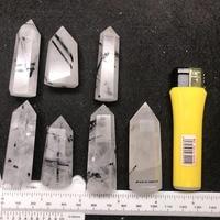 7pcs Natural black Tourmaline Point Wand Obelisk Crystal Quartz stones for Healing