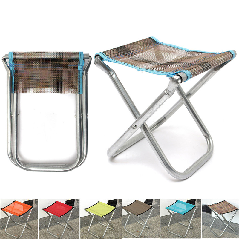 Aliexpress.com : Buy Portable Folding Aluminum Alloy Chair Outdoor Stool  Garden Seat For Fishing Camping Picnic BBQ Beach Fishing Tackle Accessories  From ...