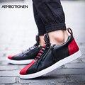 2016 Primavera Nuevos Hombres de Zapatos de Los Hombres Coreanos Zapatos Casuales Zapatos Bajos Transpirable Colores Mezclados Moda Zapatos Para Hombre Negro Suave Mocasines Blancos