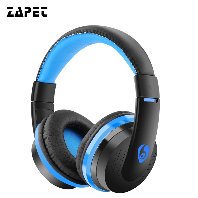 ZAPET Wireless Stereo Bluetooth Headphone Headband Earphone Adjustable Headset with FM TF card headsets for xiaomi iphone phone economic set original nia q1 8 gb micro sd card a set bluetooth headphone wireless sport headsets foldable bluetooth earphone