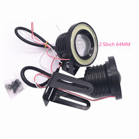 2Pcs COB Fog Lamps 2 5Inch 64MM 3Inch 76MM 3 5Inch 89MM White Blue Red Green