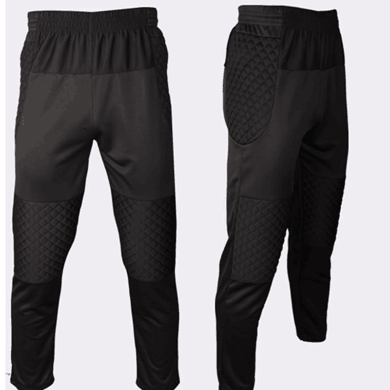 2018 Professional Soccer Goalkeeper Pants Boys Kids Sponge Slim Skinny Football Goal Keeper Trousers Goalie Sports Training Pant
