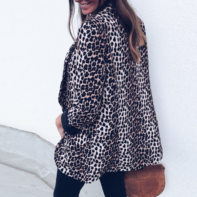 2018 New Casual Leopard Coat 1
