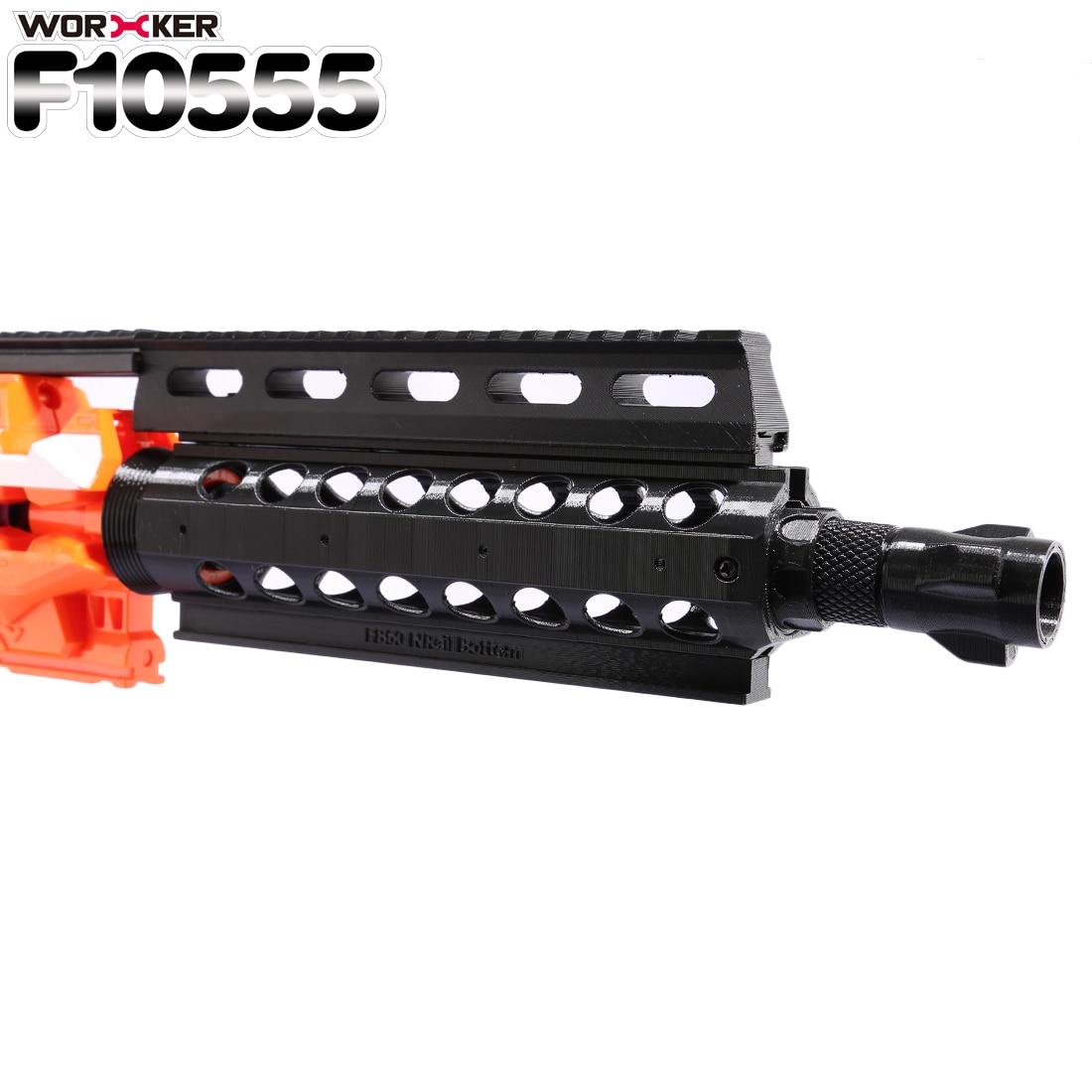 Trabalhador F10555 3D Impressão NO. 60 Tubo Frente H17 Picatinny Rail  Profissional Acessórios para Nerf Brinquedo Arma-Preto bc4420dea5