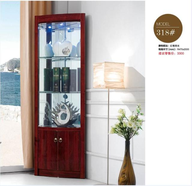 318# Living Room Furniture Round Corner Display Showcase Wine Cabinet  Living Room Cabinet Corner Cabinet