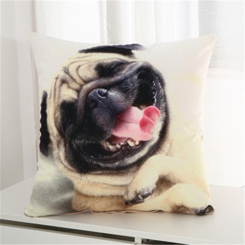 Spirited Dog Modern Simple Cotton Cushion Cover Decorative Pillowcase Home Decor Sofa Throw Pillow Cover 45x45cm Drop Shipping Ma22 Home & Garden