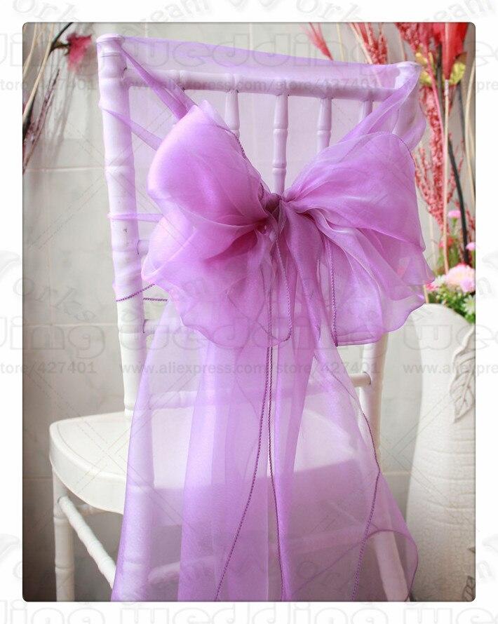 3/3--100PCS 65*275CM 61 Color Organza Chair Hoods/Chair Caps/Cover Sash For Wedding Event&Party&Home&Banquet Decoration Textile